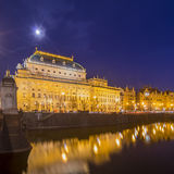 Teatro nazionale a Praga Fotografia Stock