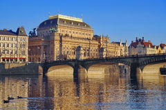Teatro nazionale a Praga Fotografie Stock Libere da Diritti
