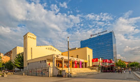 Teatro nazionale Pristina immagine stock
