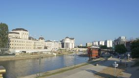 Teatro nazionale a Skopje stock footage