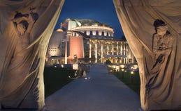 Teatro nazionale ungherese fotografie stock libere da diritti