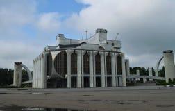 Teatro nombrado después de Fyodor Dostoevsky en el monumento de Veliky Novgorod Rusia de la arquitectura soviética foto de archivo