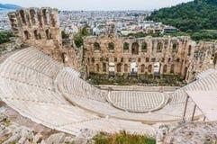 Teatro Odeon do grego clássico do Atticus de Herodes em Atenas Grécia Imagem de Stock