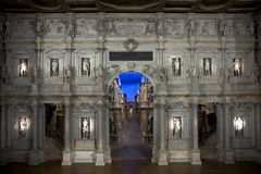 Teatro Olimpico interior in Vicenza Royalty Free Stock Photos