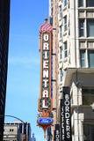 Teatro oriental - Chicago, Illinois fotos de archivo