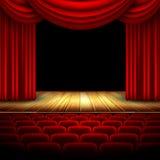Teatro Pasillo Foto de archivo libre de regalías