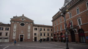 Teatro Pergolesi in Jesi, Italy stock footage