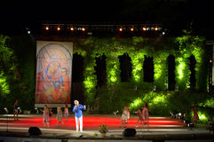 Teatro pittoresco Bulgaria di Varna di concerto della fase Immagini Stock Libere da Diritti
