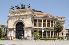 Teatro Politeama, Palermo, Sicily stock images