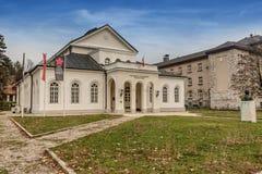 Teatro real em Cetinje, Montenegro foto de stock royalty free