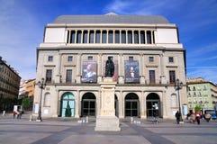 Teatro real, Madrid imagens de stock royalty free