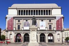 Teatro real que construye Teatro real en Madrid Foto de archivo libre de regalías