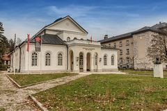Teatro reale in Cetinje, Montenegro fotografia stock libera da diritti