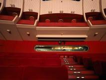 Teatro Regio (kunglig teater) huvudsaklig korridor i Turin royaltyfri foto