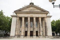 Teatro restaurado, histórico en la ciudad Detmold fotografía de archivo