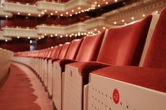 Teatro rojo Fotos de archivo libres de regalías