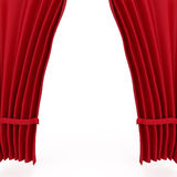 Teatro rojo Courtains del terciopelo Foto de archivo