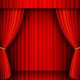 Teatro rojo del vector del terciopelo Fotos de archivo