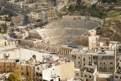 Teatro romano a Amman, Giordania aereo Fotografia Stock Libera da Diritti
