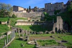 Teatro romano antiguo en Volterra Fotografía de archivo libre de regalías
