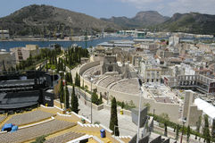 Teatro romano de Cartagena, España Imagen de archivo