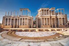 Teatro romano de Merida, Merida, Extremadura, Espanha fotos de stock