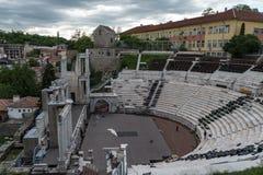 Teatro romano de Philippopolis em Plovdiv, Bulg?ria imagem de stock