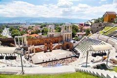 Teatro romano de Philippopolis en Plovdiv, Bulgaria Foto de archivo libre de regalías