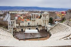 Teatro romano de Plovdiv foto de stock