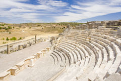 Teatro romano de Segobriga Imagen de archivo