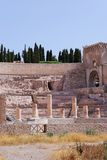 Teatro romano em Cartagena Fotografia de Stock