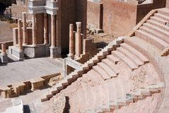 Teatro romano en Cartagena Fotografía de archivo