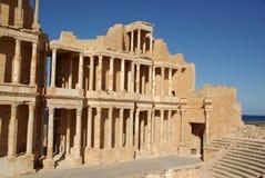 Teatro romano en el sabratha, Libia Fotografía de archivo libre de regalías