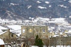 Teatro romano en la ciudad de Aosta foto de archivo libre de regalías