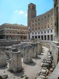 Teatro romano en Lecce, Italia Imágenes de archivo libres de regalías