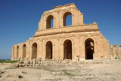 Teatro romano en Sabratha, Libia Fotografía de archivo libre de regalías