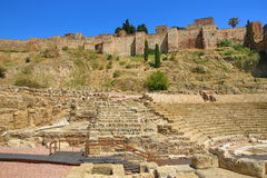 Teatro Romano, Histiric Building, Malaga, Spain Royalty Free Stock Photography