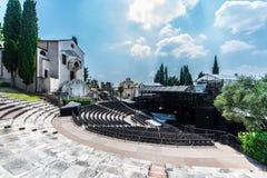 Teatro Romano i Verona royaltyfria foton