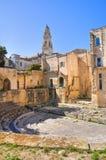 Teatro romano. Lecce. Puglia. Itália. imagens de stock