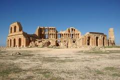 Teatro romano in Sabratha, Libia Immagini Stock