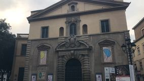 Teatro rossini i pesaroen - Italien stock video
