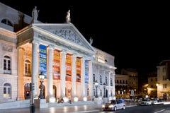 Teatro Rossio Lisbona di Dona Maria II immagini stock