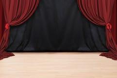 Teatro rosso del velluto   Fotografia Stock Libera da Diritti