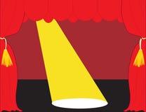 Teatro rosso della fase Fotografie Stock