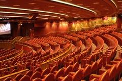 Teatro rosso sulla crociera Fotografie Stock