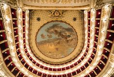 Teatro San Carlo, Naples opera house, Italy Royalty Free Stock Images