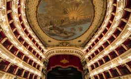 Teatro San Carlo, Naples opera house, Italy Stock Images