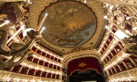 Teatro San Carlo, Naples operahus, Italien Arkivfoton