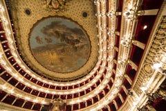 Teatro San Carlo, Naples operahus, Italien Royaltyfri Fotografi