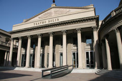 Teatro Solis. The famous opera building in Montevideo, capital of Uruguay Stock Images